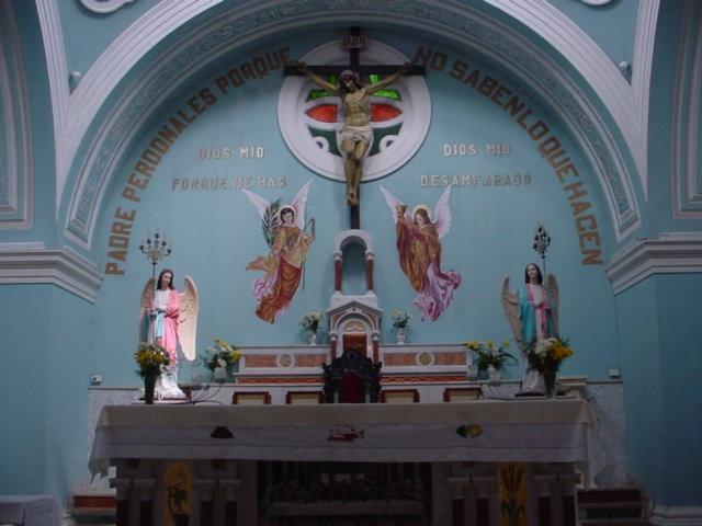 Altar mayor de la Iglesia El Tepeyac en San Rafael del Norte