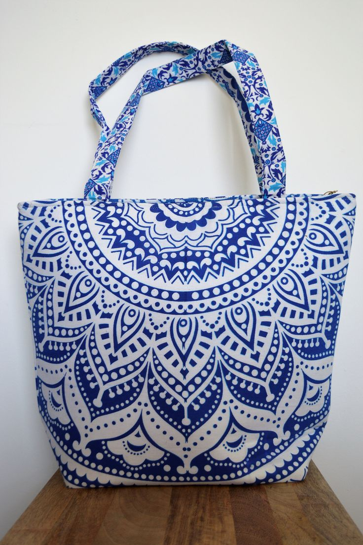 Mandala Tote Bag by BlueElephantLife on Etsy