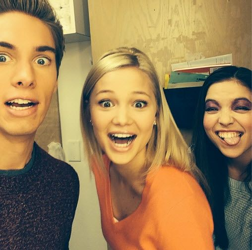 Austin North, Olivia Holt, and Piper Curda
