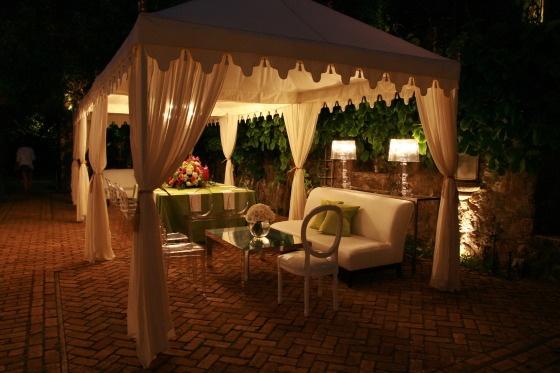 tent/lounge area
