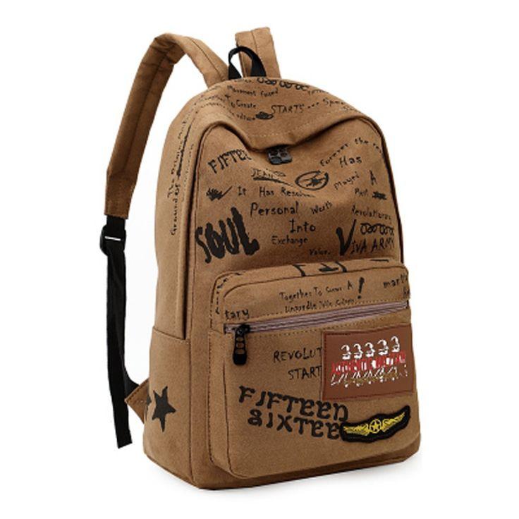 Покупки школа сумки рюкзак mochila infantil винтажный брезент рюкзак рюкзак ранец пеший туризм сумки его очень полезная