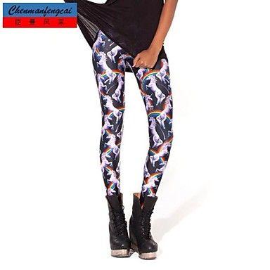 cmfc ®women's magere eenhoorn afdrukken leggings bodycon sexy sport broek vrouwelijke Koreaanse stijl casual broek – EUR € 11.99