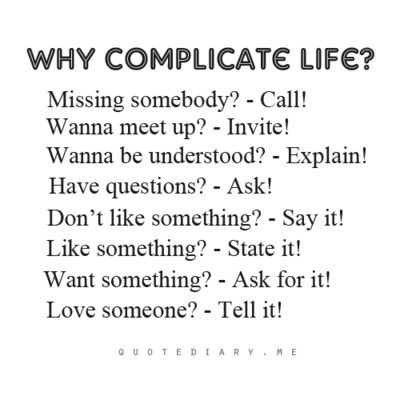 quotediaryofficial:: Why Complicated Life, Stuff, Simple, Wisdom, So True, Quotes Sayings, Favorite Quotes, Living, Inspiration Quotes