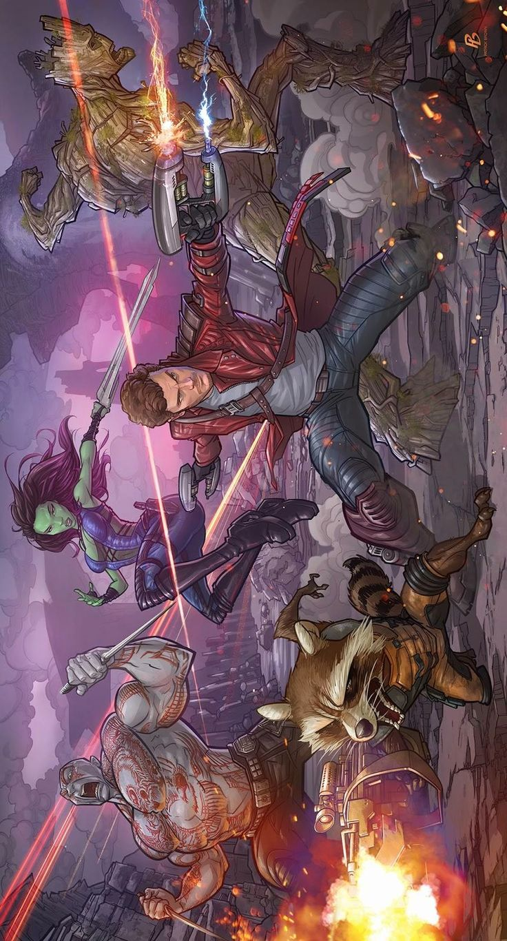 Guardians of the Galaxy by Patrick Brown * Yup, finally watched this. Never read Guardians of the Galaxy, need to find the comics now... hahaha... <3