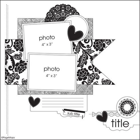 2 pic sketch: Layout Ideas, Layout Scrapbook, Scrapbook Layout Sketch, Scrapbook Layout Templates, Scrap Sketch, 2 Photo Scrapbook Layout, Fleck Sketch, Scrapbook Sketch, Layout Galleries