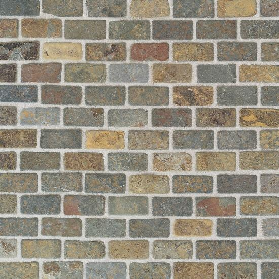 China Multicolor Brick Joint - Tumbled Slate Collection by American Olean