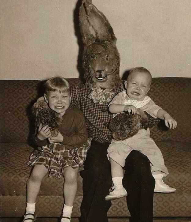 Is this the most horrifying Easter Bunny costume in history?