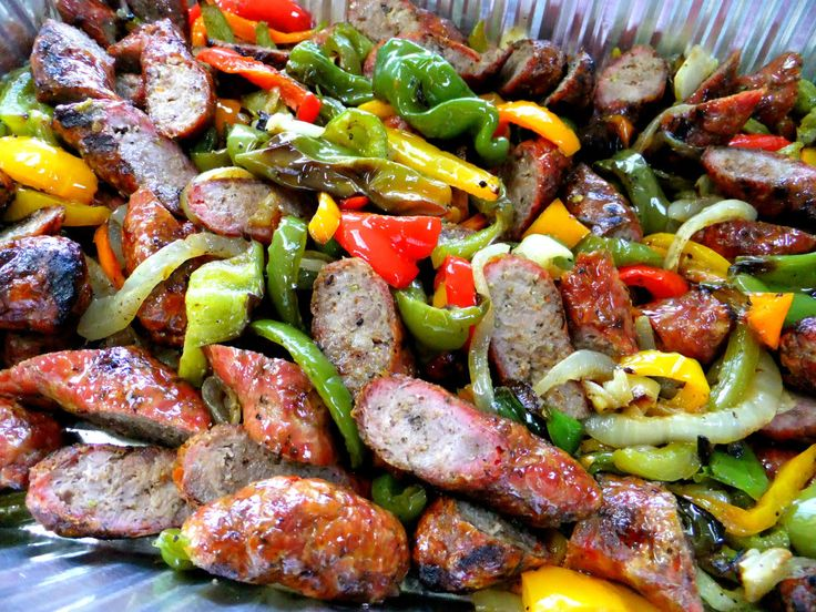 PROUD ITALIAN COOK: Crowd Pleasers...Grilled Italian Sausage with Peppers and Onions
