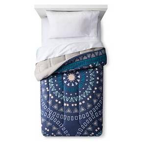 Comforter Medallion Dark Blue - Room Essentials™ : Target