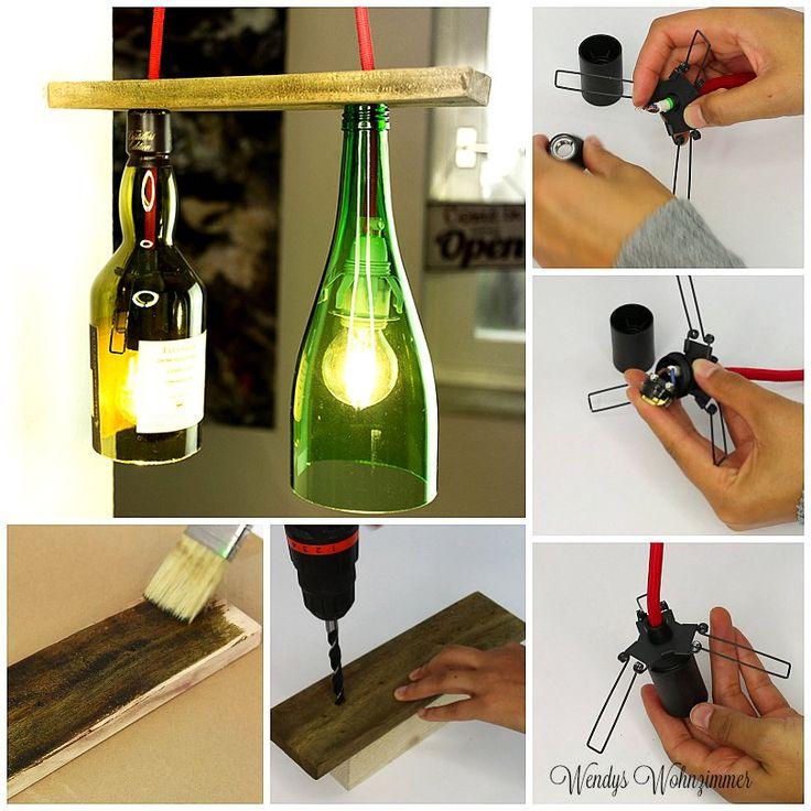 die besten 25 lampe aus flaschen ideen auf pinterest gin brille wiederverwertete flaschen. Black Bedroom Furniture Sets. Home Design Ideas