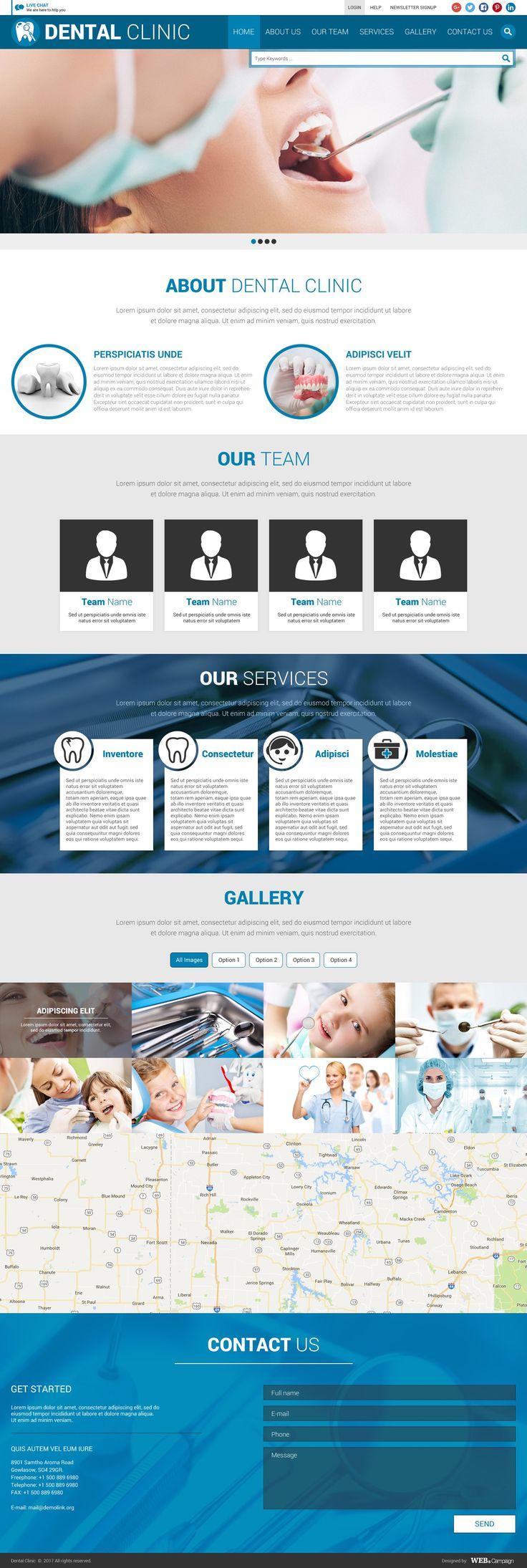 PSD Free Dental Clinic Web Template