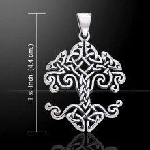 Cari Buziak Celtic Knotwork Tree of Life Silver Pendant TPD643