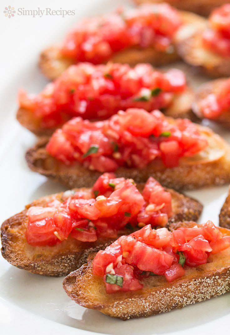 Bruschetta With Tomato And Basil Any appetizer that involves bread will be an instant fave.