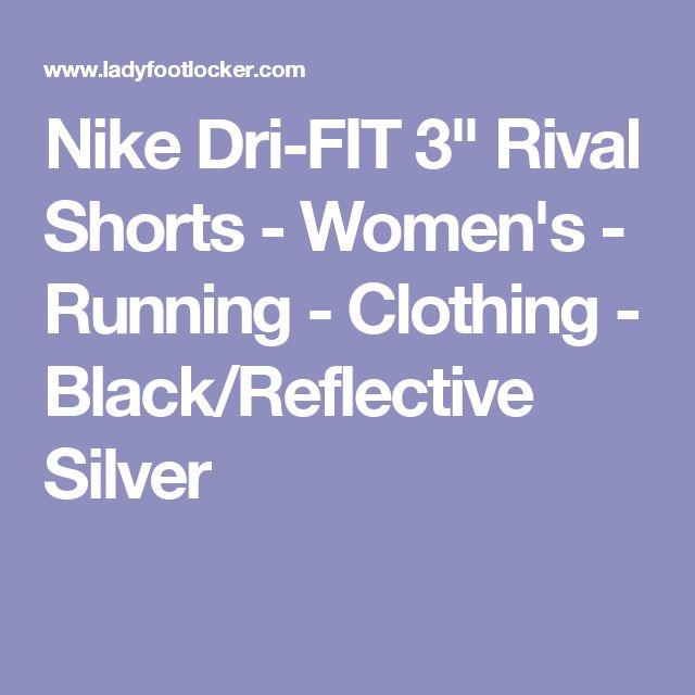 "Nike Dri-FIT 3"" Rival Shorts - Women's - Running - Clothing - Black/Reflective Silver"
