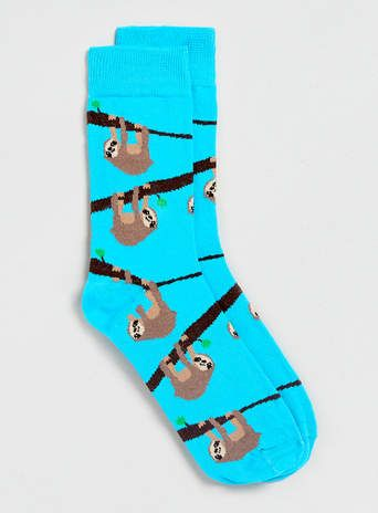 Sloth Motif Socks - New This Week - New In $6.00 #topseller
