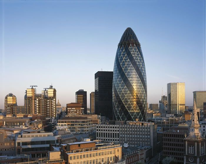 11 Gherkin Building, London City, UK - Online Architecture Gallery Top 50 Most Amazing Designs In The World