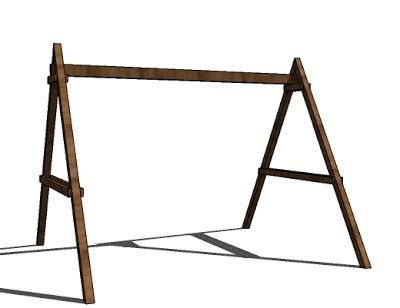 How to build a wooden swing frame woodworking projects for How to make a simple wooden swing set