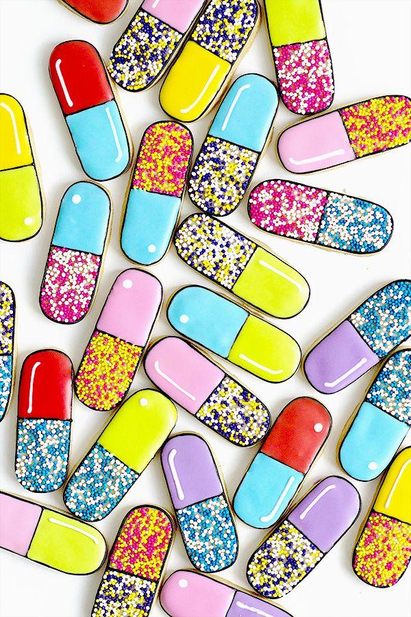 Pill Capsule Cookies