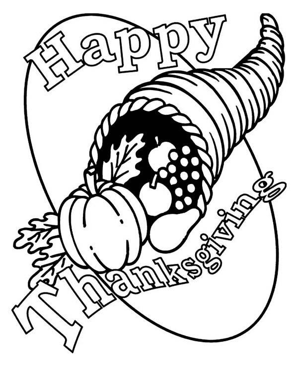 Füllhorn Kanada Erntedankfest Hornkorb Malvorlagen: Coloring Sun – Canada Thanksgiving Day Coloring Pages