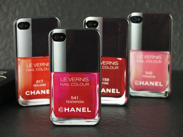 Coque pour iphone6 6plus 5 4 chanel vernis en silicone un effet de 3D huit coloris au choix sur jeuxciel.fr