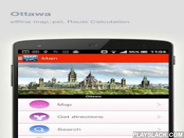 Ottawa Map Offline  Android App - playslack.com ,  Ottawa (Canada) Map offline - is an application that allows you to view online and offline Ottawa map in yourmobile phone. 2 types of maps are attached in application: 1st map: Offline map. You can download it in Wi-fi service area and use without Internet.2nd Map: Online map. Allows you to search for addresses, save points on the map. Map access is free of charge.Application functions are available: 1. Add any objects to your favorites. 2…