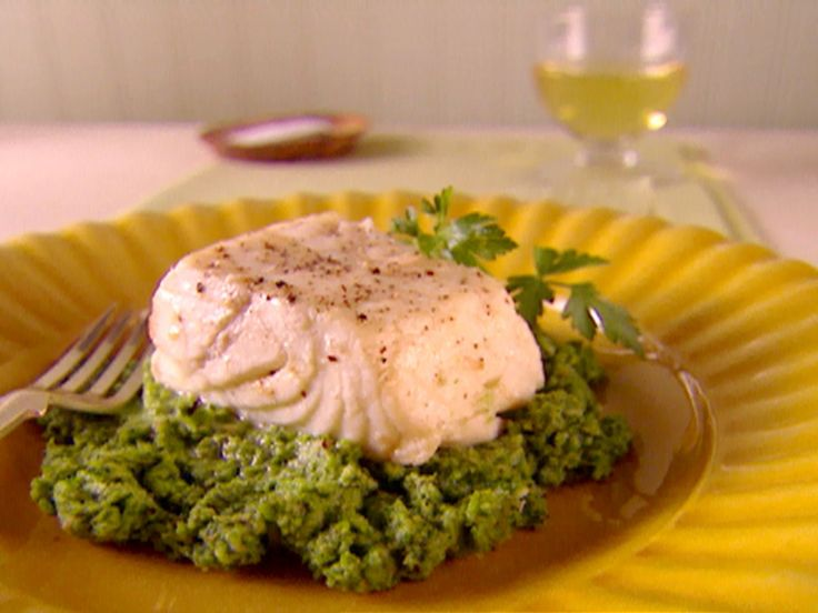 Halibut Poached in Olive Oil with Broccoli Rabe Pesto recipe from ...