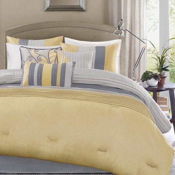 Madison Park Selma Yellow 7-piece Comforter Set