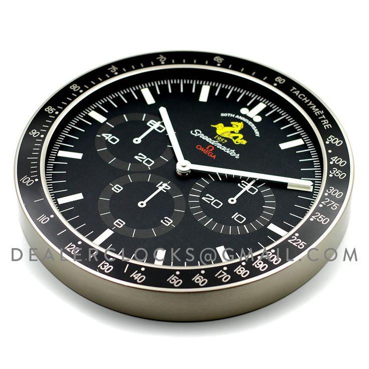 omega dealer display wall clock based on the speedmaster