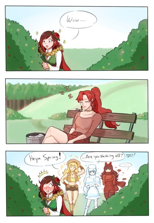 Schnussy — Maiden AU spring!ruby spots a pretty human ;)