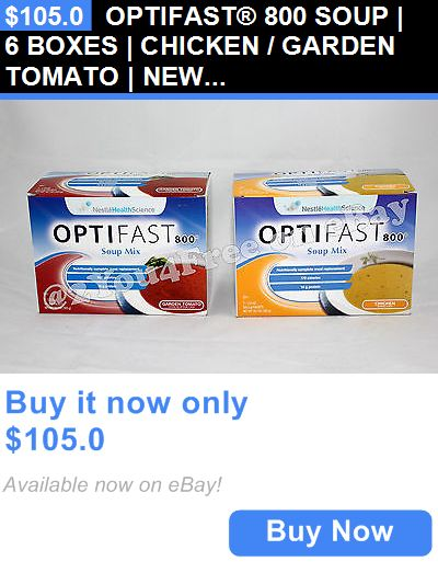 Meal Replacement Drinks: Optifast® 800 Soup | 6 Boxes | Chicken / Garden Tomato | New | Latest Dates BUY IT NOW ONLY: $105.0