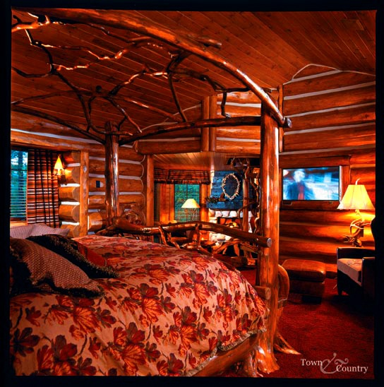 Hunting Lodge Bedroom: 1000+ Images About Log Canopy Beds On Pinterest