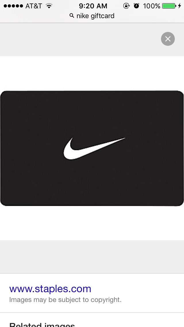 Nike giftcard