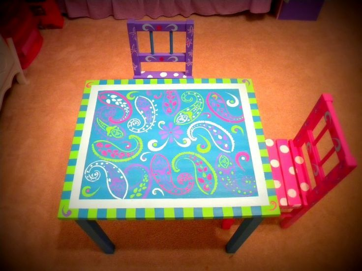 1000 images about colorful funky whimsical furniture for Hand painted furniture ideas