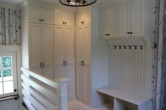 33 best images about mudroom lockers on pinterest for Entryway lockers with doors