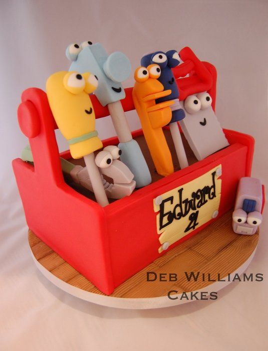 Handy manny toolbox - by Deb Williams @ CakesDecor.com - cake decorating website
