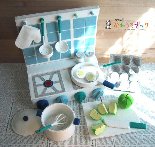 felt kitchen...I think this will be Elsa's first birthday present next year or her christmas present. Love this!
