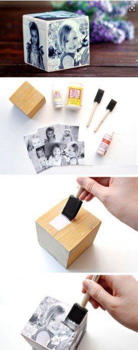 Un cube personnalisé plein de souvenirs pour la fête des mères