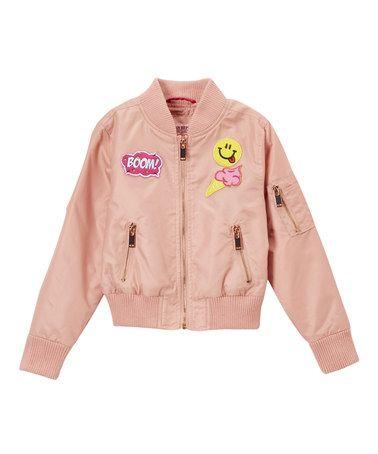Love this Light Rose Smoke Patch Bomber Jacket on #zulily! #zulilyfinds