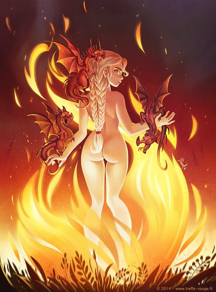 Blood and Fire - Daenerys Targaryen by Trèfle Rouge