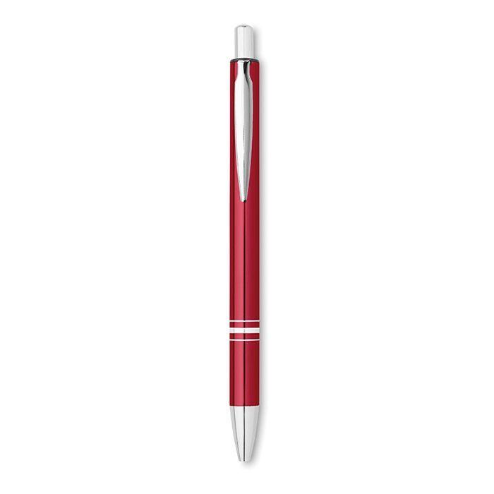 Kolorowy długopis reklamowy z czarnym wy RIOSOFT