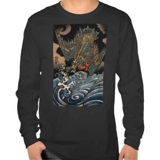 海龍, 国芳, Sea Dragon, Kuniyoshi, Ukiyo-e Shirts $31.45