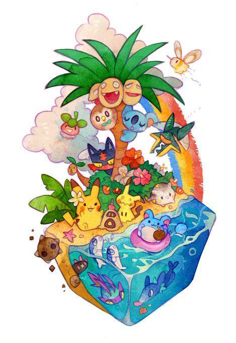 Twitter >> New Pokemon from Sun and Moon Chibi!