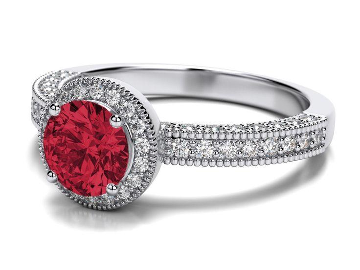 Refined Ruby Wedding Ring