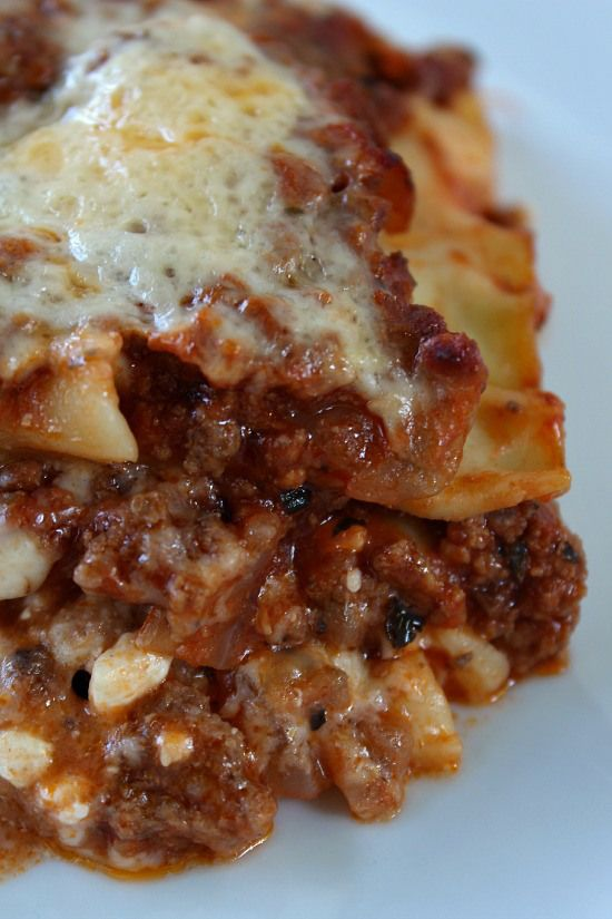 Classic Lasagna-This was so yummy and so easy! I used ground Turkey, and I only made half of the recipe. I baked it in an 8x8 casserole dish and it turned out great!