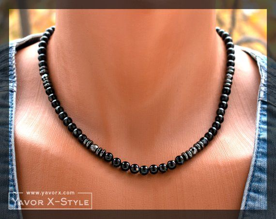 Mens necklace Men Collection in Black