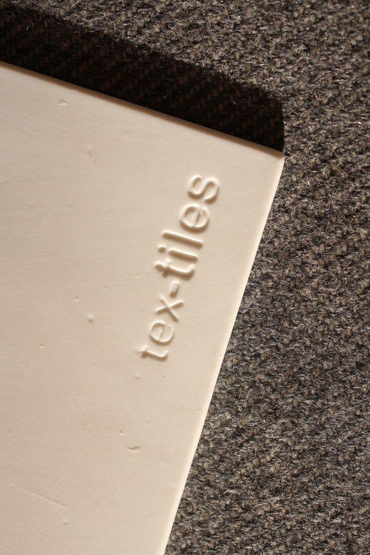 Logo of tex-tiles at backside#tiles #transparant #white #translucent #porcelain #15x15 #bathroom #textiles #wall #decoration #led #imprint #relief #barbaravos #wallcovering #kitchen #shower #home #interior #design #glaze #backsplash #flower #pattern #coral #fabric
