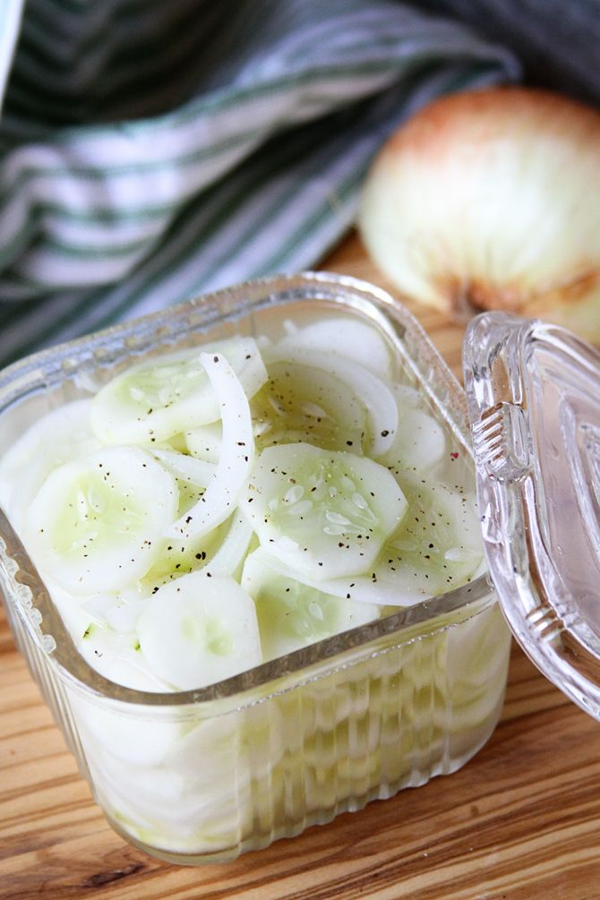 Simple Cucumber And Onion Salad (1) From: Southern Bite, please visit