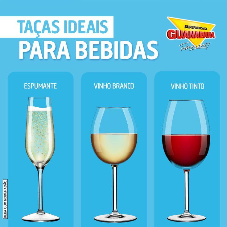 Para fazer bonito na mesa, um toque especial é válido! Confira a taça ideal para cada tipo de bebida. ;)