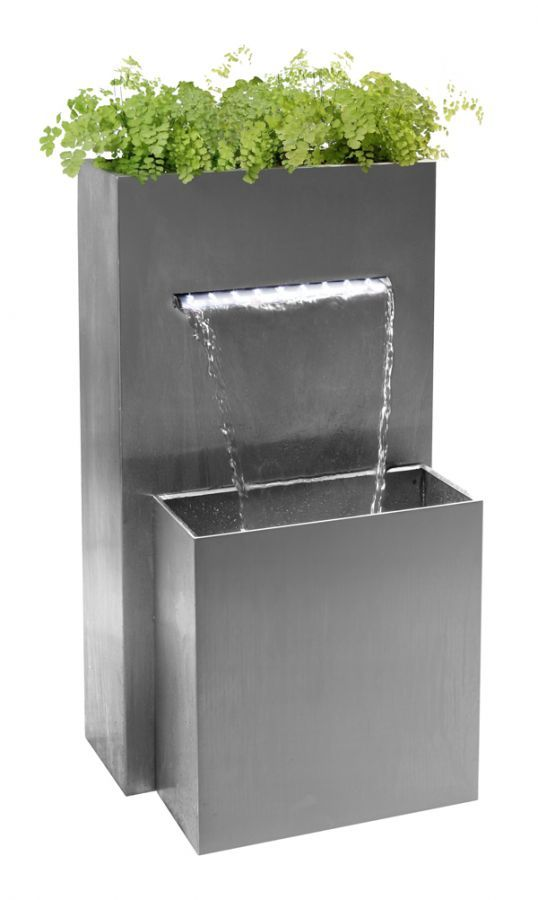 Small Rectangular Planter Waterfall Cascade With LED Lights - H89cm x D41cm