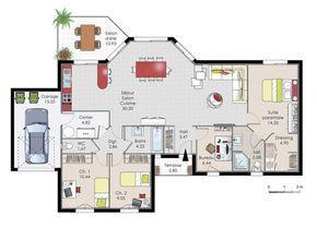 maison de plainpied 1 - Plan Architecturale De Maison